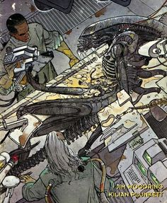 Kilian Plunkett - Aliens, Labyrinth 2 (of 4), October 1993.
