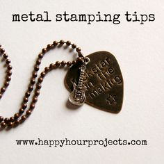 "Happy Hour Projects: Jewelry Stamping  Such an excellent ""How To"" for beginners - from supplies you'll need to get started to how to do your first project. I'm excited to get started!"