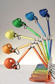 Lampada Tolomeo Artemide, flessibile e colorata #light #design