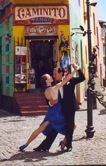 Caminito in La Boca, Buenos Aires, Argentina.  I LOVED this town and the tango dancers in the street!