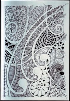 Shelly Beauch: Diving in the deep end! Michele Beauchamp, Certified Zentangle Teacher using Mooka as a String