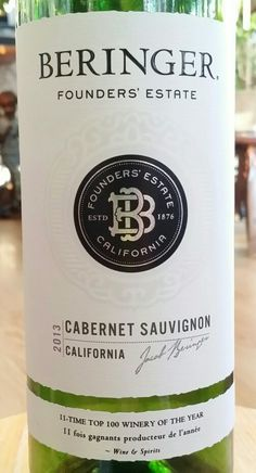 beringer founders estate 2013 cabernet sauvignon napa california usa 139 alcohol 18 authentic oak red wine
