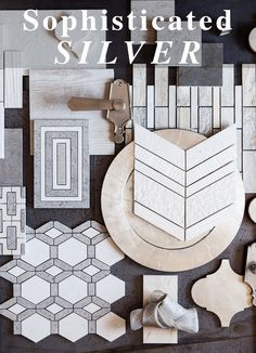 Silver, combined with cream and grey spells sophisticated glamour.  You can find countless combinations of this beguiling pallete In Walker Zanger's  stone and tile collections. Shown here are products from our Contessa, Moda, Shift, Helsinki and Studio Moderne Collections.