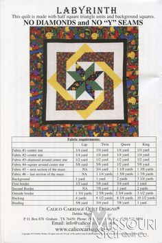 labyrinth quilt patterns | Labyrinth Pattern - Calico Carriage Quilt Designs