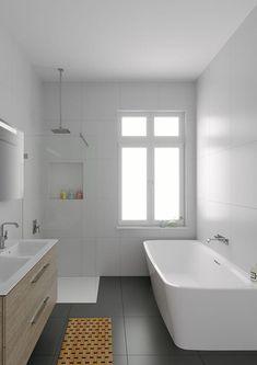 17 Beautiful Small Bathroom Design Ideas With A Bathtub. Small Bathroom Ideas With Bath and Shower. Really Small Bathrooms With A Modern Traditional Feel. Guest Bathrooms, Large Bathrooms, Chic Bathrooms, Modern Bathroom, Simple Bathroom, Family Bathroom, Farmhouse Bathrooms, Luxury Bathrooms, Modern Farmhouse