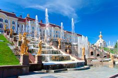 Grand Cascade fountain, Peterhof Palace, St Petersburg, Russia  www.coxandkings.co.uk/europe/russia