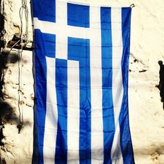 The Greek Flag - Mykonos #greece