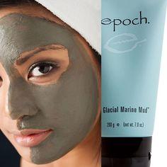 Nu skin epoch glacial marine mud new face body Nu Skin, My Beauty, Beauty Secrets, Beauty Box, Marine Mud Mask, Glacial Marine Mud, Beauty Magazine, Epoch, Beleza