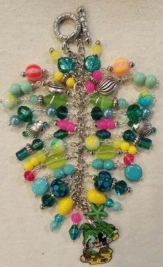 Mickey Palm Tree Purse Charm    ~ available at https://www.etsy.com/shop/magic365