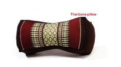 Thai neck pillow bone pillow Brown Product of Thailand Thai neck pillow bone pillow Brown Product of Thailand  14 x 6 x 4.5 inches