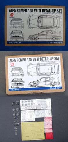 Parts 166798: Hobby Design Hd02-0331 1 24 Alfa Romeo 155 V6 Ti Detail-Up Set For Tamiya -> BUY IT NOW ONLY: $36.67 on eBay!