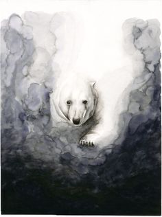 NEW PAINTING Polar Bear Watercolor Print by TCsART on Etsy