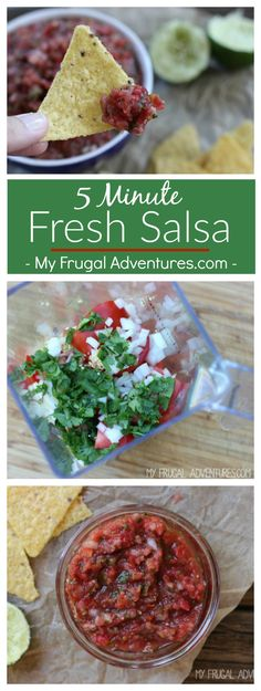 Simple 5 minute blender salsa recipe- this is absolutely amazing and a fantastic hostess gift idea. Make your own restaurant style salsa in just minutes.