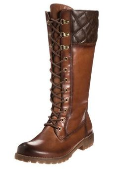 Shoes: brown boots