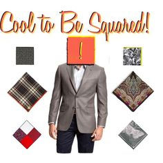"""Cool to Be Squared""   - FULL RETAIL - $645.50 -      The best way to add strength to your Power Suite is by adding a complimentary pocket square!     Featuring Joseph Abboud 'Signature Silver' Sportcoat ($ 332), Armstrong & Wilson Linen Pocket Square ($ 65), J.Z. Richards Silk Pocket Square ($ 39.50), Etro Silk Pocket Square ($ 109), Reiss Frogger BOLD FLORAL PRINT POCKET SQUARE ($ 40), Reiss Shark LINEAR BUTTERFLY PRINT HANK ($ 40), Reiss Patera RANDOM POLKA WITH SQAURES ($ 20)."