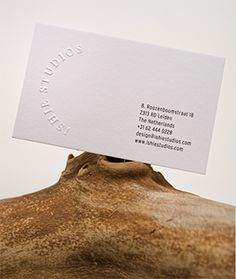 Ishie Studios Branding - Card with Embossed Logo