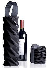 origami wine tote - collapsible. Love it.