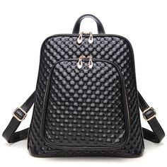 Women Bag Preppy Backpack Genuine Leather Student Zipper Bags Solid  Pendants Preppy Sac Casual Backpacks Teenagers 6b8d82f66afac