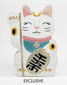 Imagen 1 de Bolso en forma de gato exclusivo para ASOS de Skinnydip