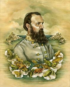 my talented cousin!  Lisel Jane Ashlock. www.liseljane.com. Stonewall Jackson. Portrait. Civil War.