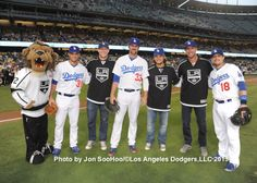 Last night was LA Kings Night at Dodger Stadium, and I can't help but think that the team provided a bit of good luck for our boys in blue.