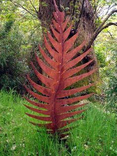 Metal Leaf Sculpture By Sculptor Peter M Clarke In Garden Sculptures .