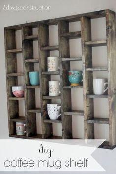 diy coffee mug shelf by nannie