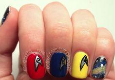 Star Trek nails by Beth's nails.