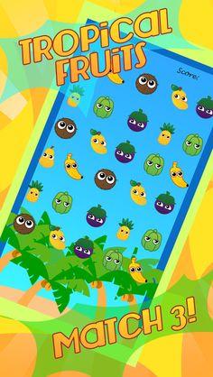 App Shopper: Abe's Fruit Farm Tropical Story Match 3 Flow Puzzle - Juice Splash Jelle Fun Blast! (Games)