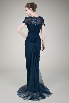 Tadashi Shoji New Navy Paillette Lace and Tulle Gown Size 14 MSRP ...