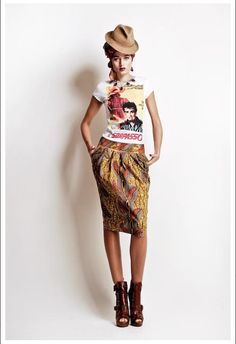 Stella Jean S/S 2012 African Inspired Collection Estilo Fashion, Love Fashion, Fashion Models, Womens Fashion, Fashion Design, Fashion Trends, Stella Fashion, Fashion Styles, Stella Jean