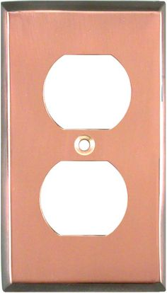 ANTIQUED EDGE COPPER Switch Plates, Outlet Covers & Rocker Switchplates