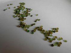 Stunning Sparkling Green Tourmaline gemstone beads!