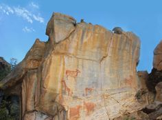 Remarkable rock paintings