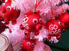 Razorbacks Christmas Ornament
