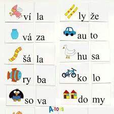 slabiky Special Education Activities, Activity Sheets, Special Needs Kids, Montessori, Literacy, Stuff To Do, Alphabet, Kindergarten, Language