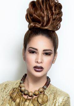 Textured High bun  Hair & Makeup: Sherri Jessee  Photo: Jason Setiawan