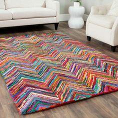 tapis saint maclou coloré pour le salon