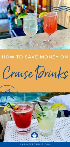 Looking to save money on cruise drinks for your next vacation? We give you the 10 easiest ways to lower your bar tab on your next cruise. Packing List For Cruise, Cruise Travel, Cruise Vacation, Family Cruise, Vacation Packing, Vacation Meme, Vacation Quotes, Vacation Shirts, Vacation Outfits