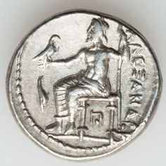 MACEDONIAN KINGDOM. Alexander III the Great (336-323 BC). AR tetradrachm (17.22 gm). Early posthumous issue of Amphipolis, 320-317 BC. Head of Heracles right wearing lion skin headdress / Zeus enthroned left holding eagle and scepter, dolphin in field before.