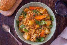 Italian Potato Rice And Spinach Soup In Pressure Cooker Recipe - Genius Kitchensparklesparkle