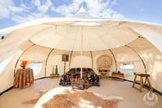 The 5m Outback model was our biggest selling tent in Australia in 2014, the Outback is like the Original Lotus Belle but with a few key additional features inc