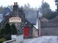 The whisky distillery of Aberlour one of many on Speyside. Tours and tastings available all year.