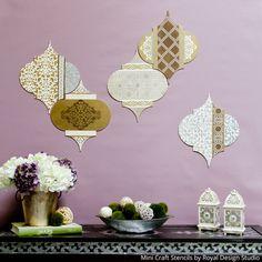Tutorial DIY: Utilisez Craft Pochoirs à Faire Mix and Match Wall Art! | Design Studio Royale