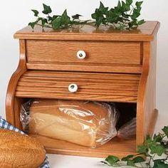 Wedding|Home|Oak Roll-Top Bread Box - Lehmans.com
