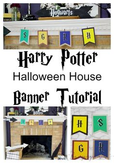 Harry Potter Halloween House Banner Tutorial