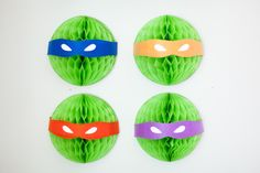 Party Idea - Use 10-inch honeycomb balls found in the party section at @Target for the ultimate Teenage Mutant Ninja Turtle Party! #TMNT