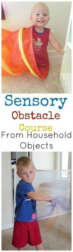 No need for fancy equipment, find out what types of challenges to include in your obstacle courses to help your child with SPD get all the sensory input they need and have fun doing it!