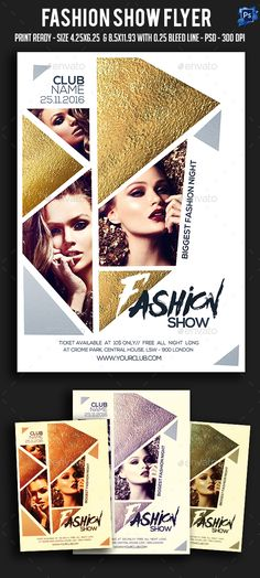 Fashion Show Flyer Template PSD