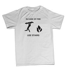 T-shirt In case of fire BTU0034 **beezarre**